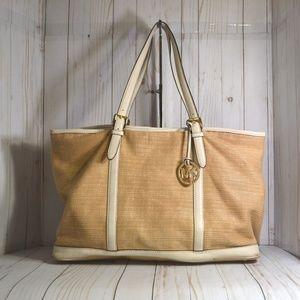 Michael Kors Straw Summer Large Tote Bag